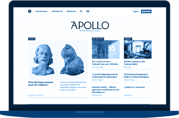 Apollo Magazine screenshot