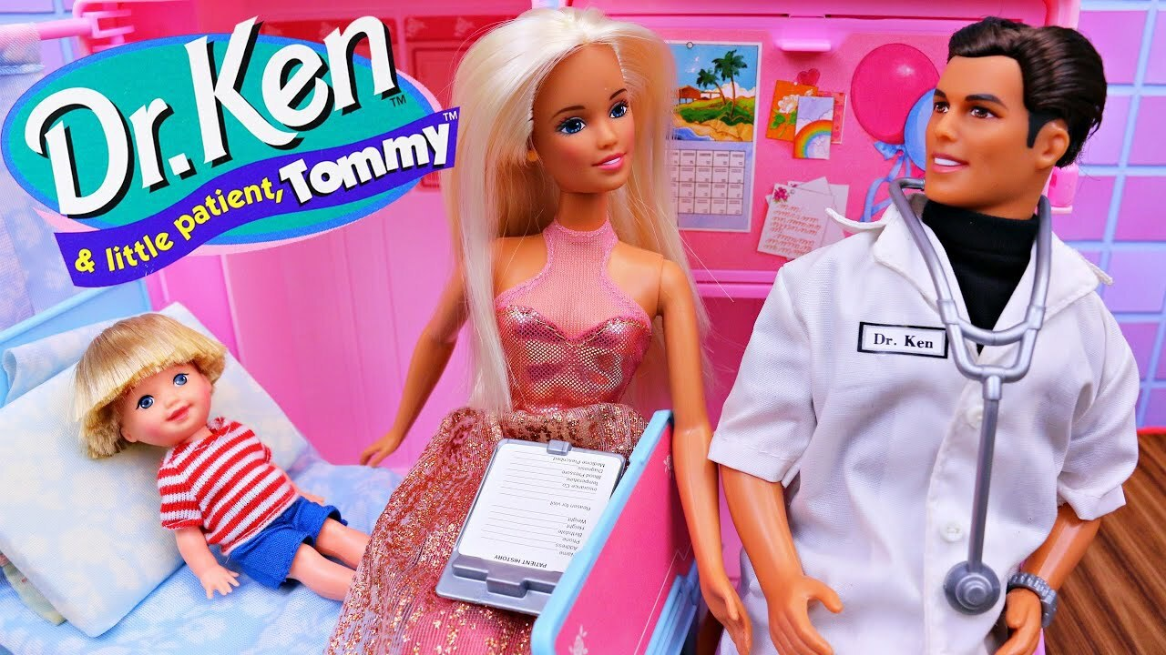 A image of a box from a Barbie toy - Dr Ken. If you have your bum sown up like me ... well you have a Barbie Butt.